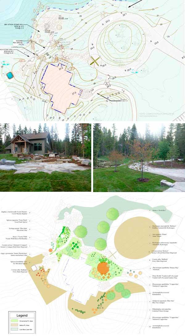 landscape architecture illich residential montana