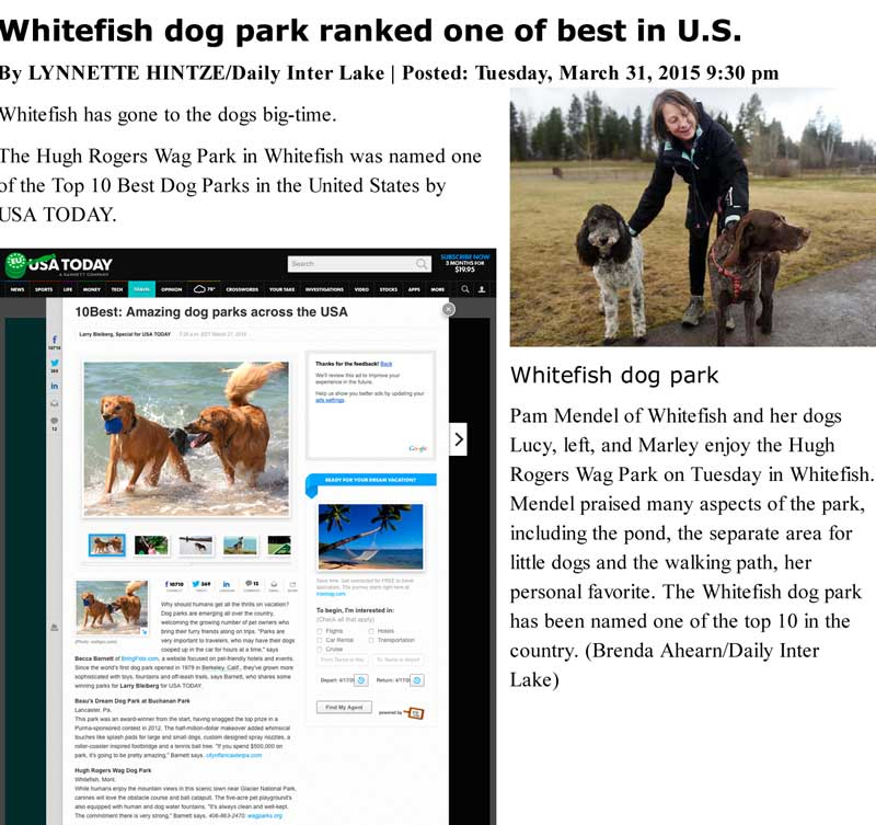 Top Ten Dog Parks in the USA