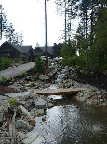residential stream landscape design